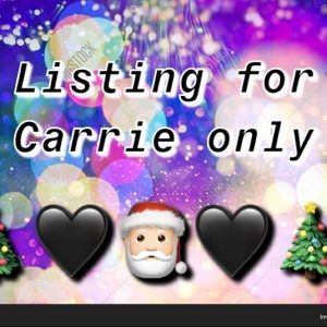 Accessories - Listing for Carrie ONLY!!!